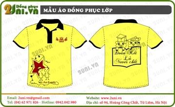 Mẫu áo lớp màu vàng - V001