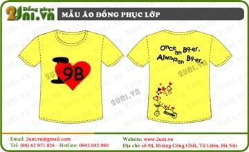 Mẫu áo lớp màu vàng - V002